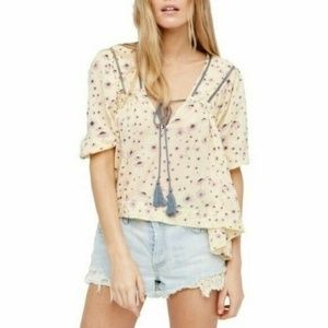 Free People Never A Dull Moment Blouse Top S 11735